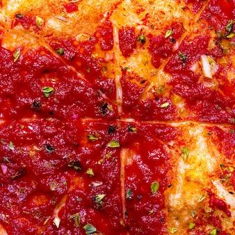 Sfondo di pizza. dettagli artistici minimi