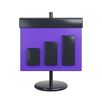 Cartello con icona diagramma isolato su bianco