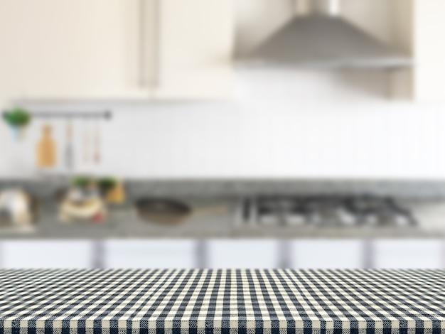Tovaglia scozzese con sfondo mobile da cucina