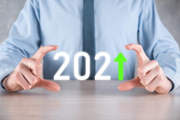 Pianificare la crescita positiva del business nel concetto di anno 2021