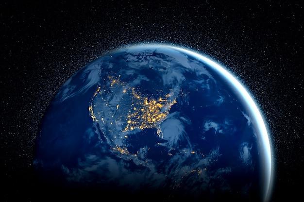 Vista del globo del pianeta terra dallo spazio