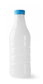 Bottiglia di plastica con tappo blu