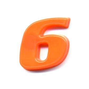 Numero magnetico in plastica 6