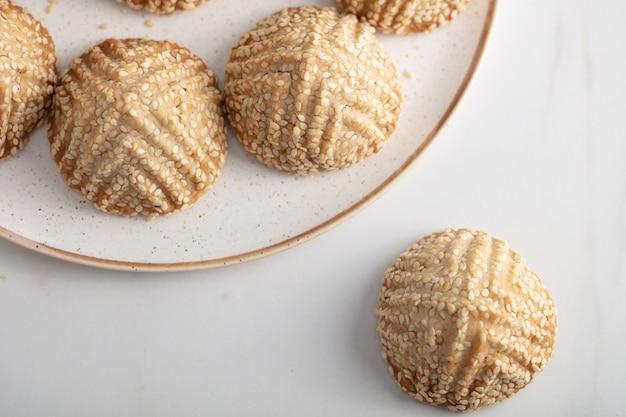 Un piatto di biscotto speciale e tradizionale chiamato