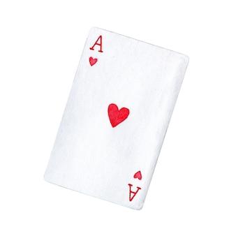 Carta da gioco di asso di cuori Foto Premium