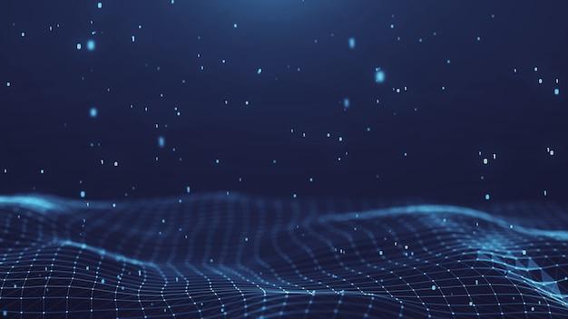 Fondo digitale di tecnologia dei titoli astratti della rete del plesso. forma geometrica.
