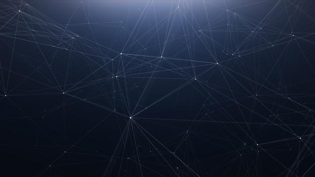 Tecnologia del plesso linea astratto sfondo