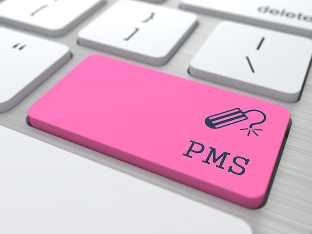 Icona pms sul pulsante rosso sulla tastiera