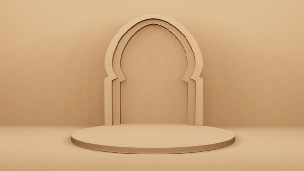 Podio e arco arabo