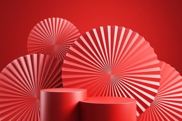 Display sul podio per il capodanno cinese