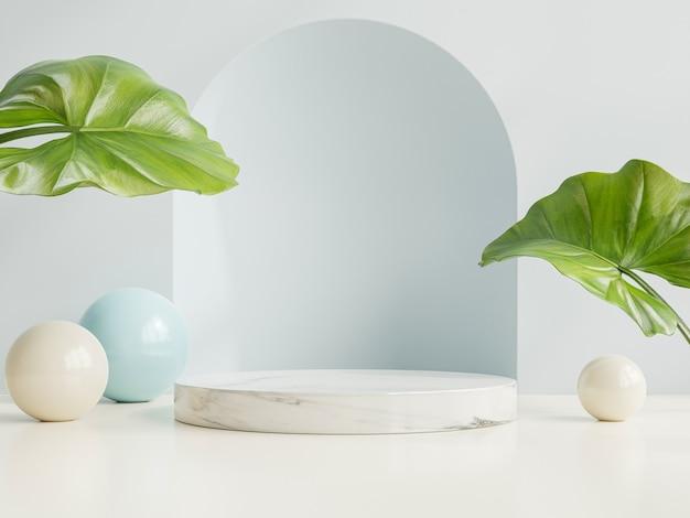 Display mockup podio con presentazione del prodotto, rendering 3d