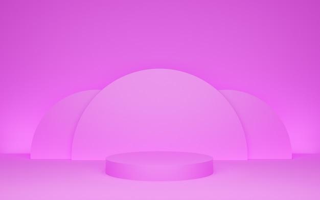 Podio in camera rosa