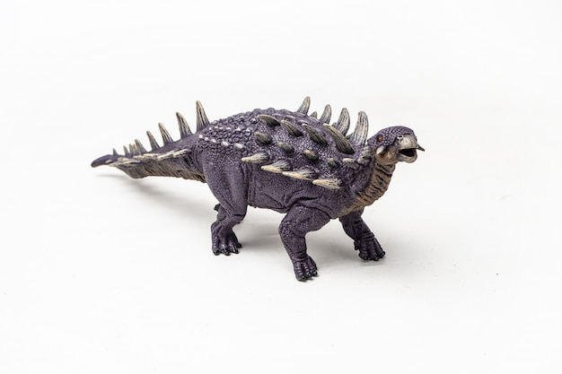 Dinosauro di polacanthus su fondo bianco
