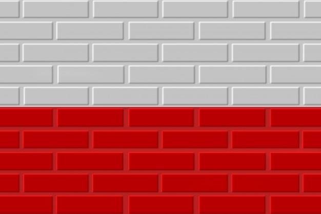Illustrazione della bandiera del mattone della polonia