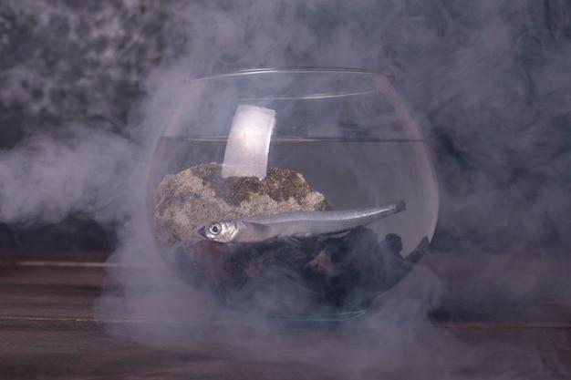 Concetto di inquinamento dell'acqua con immondizia