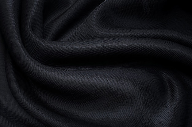 Tessuto in poliammide e viscosa. colore nero. trama, sfondo, motivo.