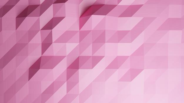 Fondo dell'estratto di colore pastello rosa del poligono