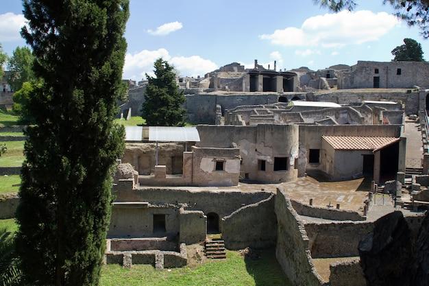 Pompei, rovine dell'eruzione del vulcano, napoli, italia