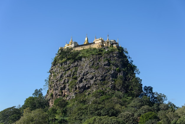 Popa mountain, myanmar