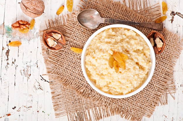 Porridge in una ciotola