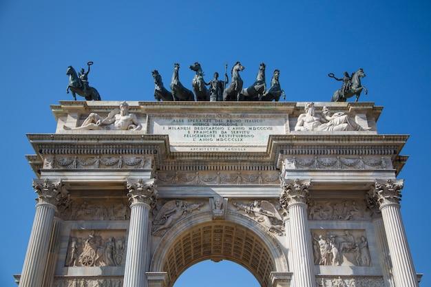 Porta sempione a milano, italia