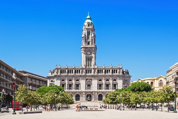 Municipio di porto in piazza liberdade, porto