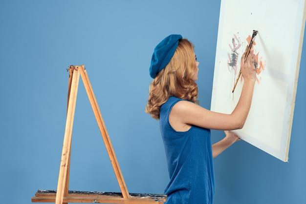 Ritratto bella giovane donna pittura