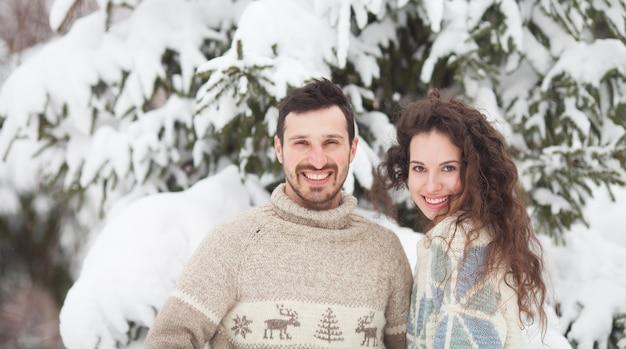 Ritratto di coppia in inverno