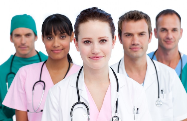 Ritratto di un'équipe medica seria