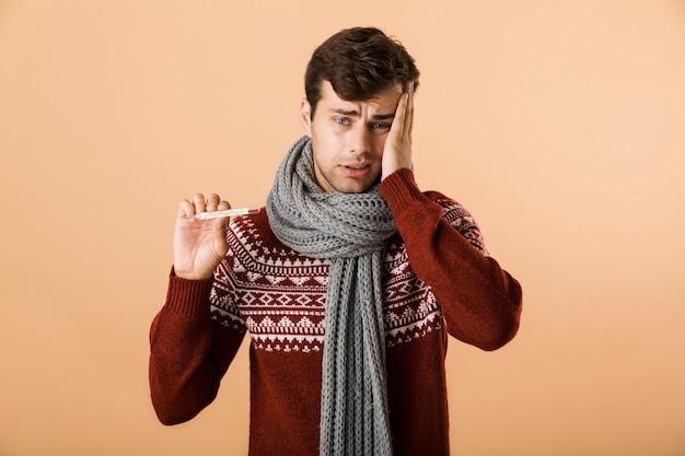 Ritratto di un giovane malato vestito di maglione