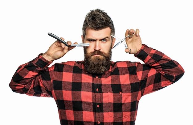 Ritratto di barba uomo alla moda. uomo barbuto, maschio barbuto.