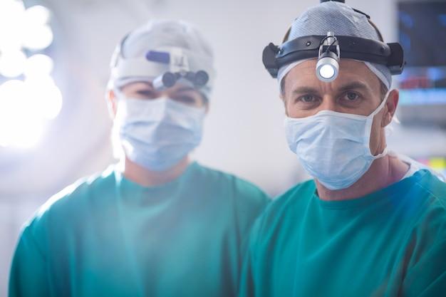 Ritratto della stanza in funzione dei chirurghi