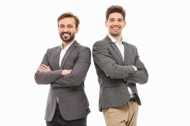 Ritratto di due uomini d'affari fiduciosi