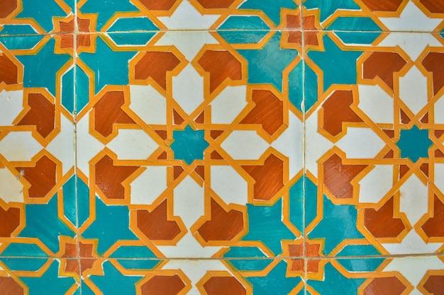 Azulejos portoghesi. modello di colore. reticolo senza giunte dell'acquerello
