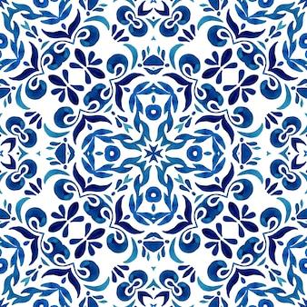 Piastrelle di ceramica portoghesi ispirate alle piastrelle in stile azulejo mediterraneo