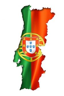 Mappa della bandiera portoghese
