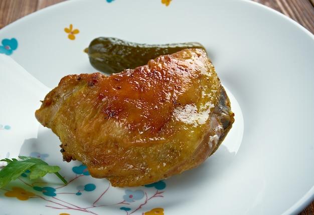 Pollo piri-piri portoghese. avvicinamento