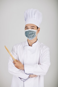Chef del ristorante positivo