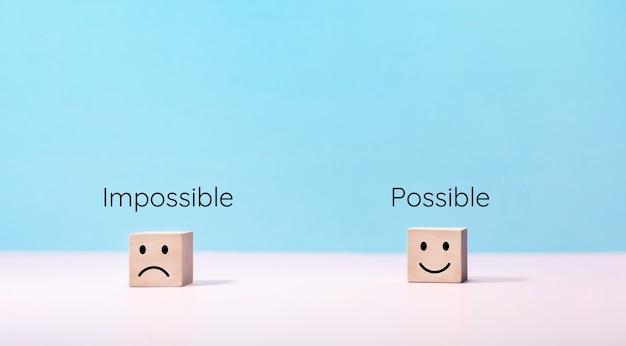 Possibile o impossibile con emozione umana e di testo