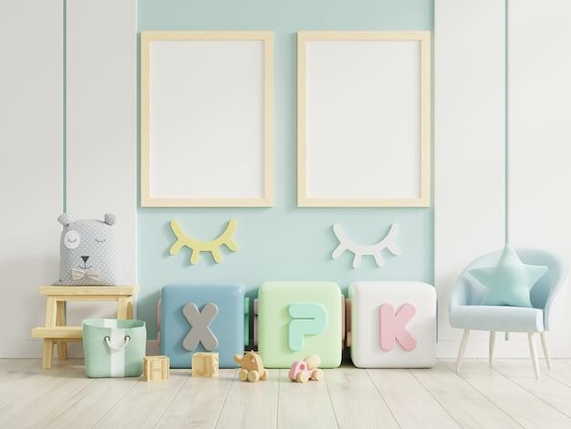 Cornice per poster in camera dei bambini, camera dei bambini, scuola materna