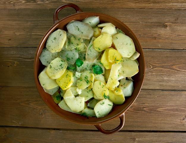 Potato musaka - piatto popolare nei balcani e nel mediterraneo