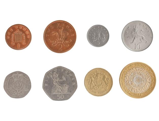 Serie di monete da una sterlina