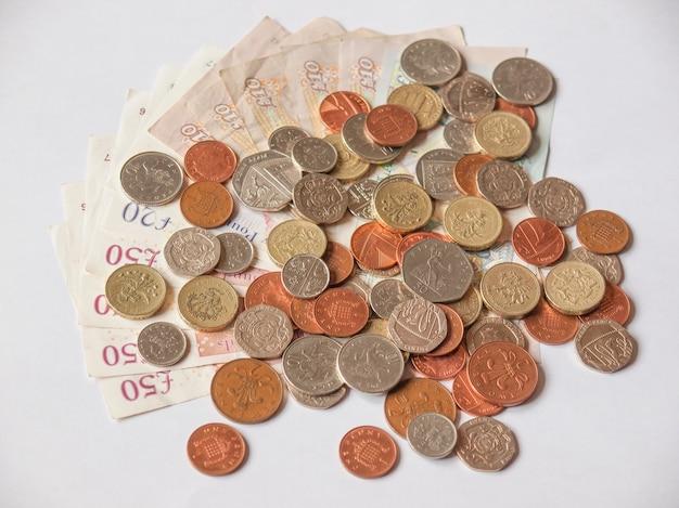 Sterlina banconote e monete, regno unito