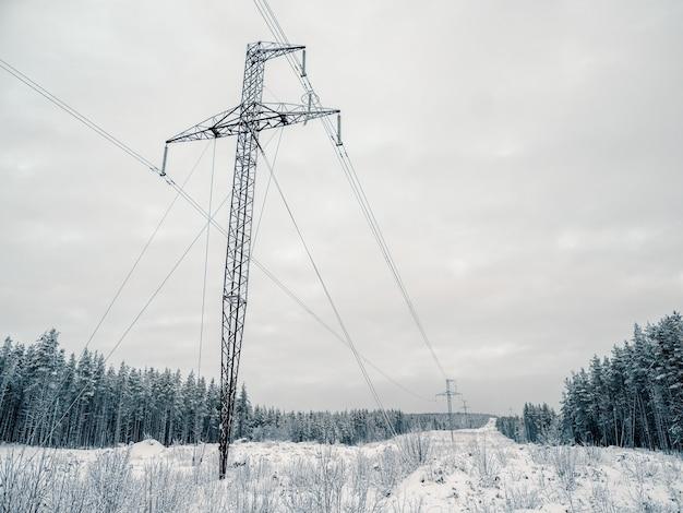 Torri di potere nelle montagne innevate del nord.