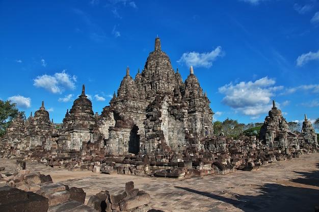 Prambanan è il tempio indù di yogyakarta, java, indonesia