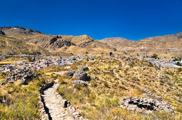 Rovine preincaiche a chivay in perù