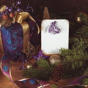 Presenti auguri di buon natale e felice anno nuovo