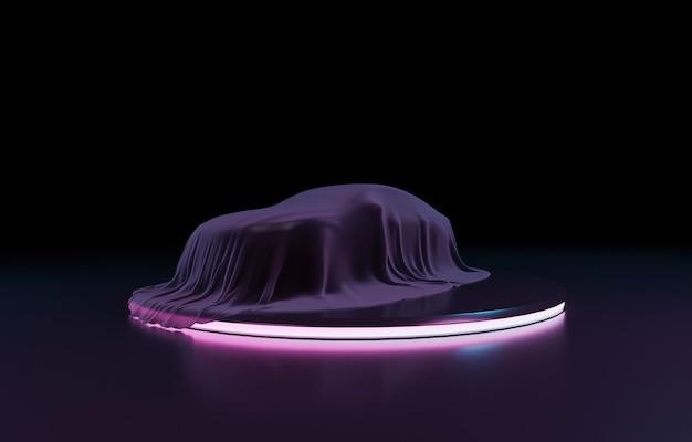 Presentazione di un'auto ricoperta di stoffa