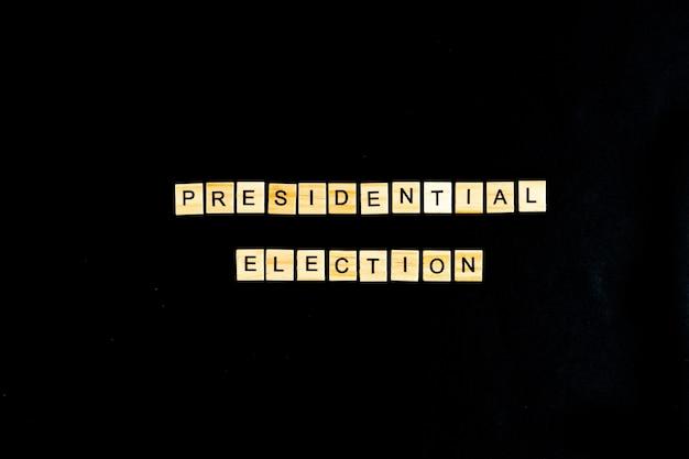 Concetto di giorno delle elezioni presidenziali isolato