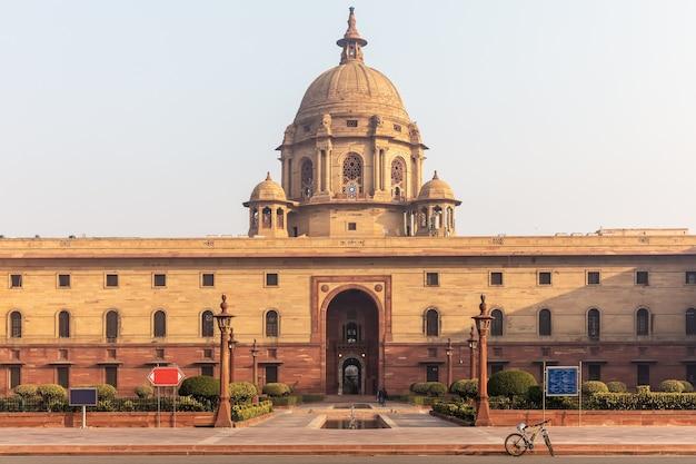 Palazzo presidenziale o rashtrapati bhavan a nuova delhi, india.